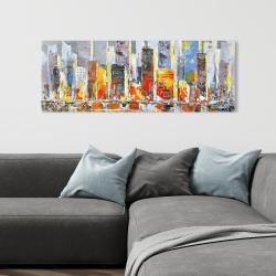 Canvas 16 x 48 - Color splash cityscape