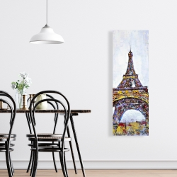 Canvas 16 x 48 - Abstract paint splash eiffel tower