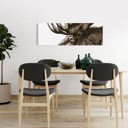 Canvas 16 x 48 - Moose plume sepia
