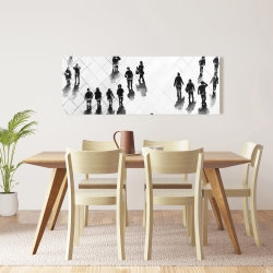 Canvas 16 x 48 - Overhead view of people on the street
