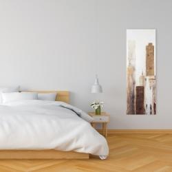 Canvas 16 x 48 - Abstract earthy tones city