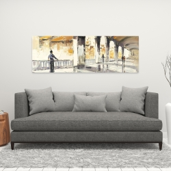 Canvas 16 x 48 - People in a spacious hall
