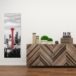 Canvas 16 x 48 - Space needle in red