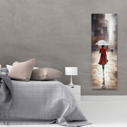 Canvas 20 x 60 - Quiet walk in the rain