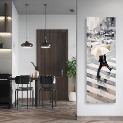 Canvas 20 x 60 - Man walking with his umbrella