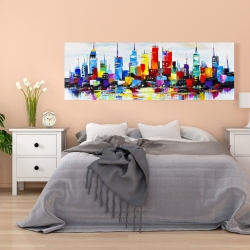 Canvas 20 x 60 - Abstract and colorful city