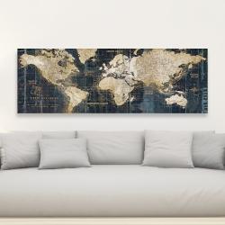 Toile 20 x 60 - Carte du monde vintage