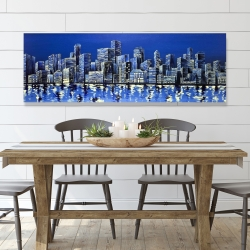 Canvas 20 x 60 - City in blue