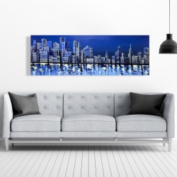 Canvas 20 x 60 - Blue skyline