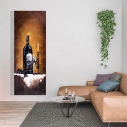 Canvas 20 x 60 - Candlelit wine