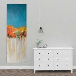 Canvas 20 x 60 - Colorful abstract small flowers