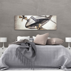 Canvas 20 x 60 - Airplane in full flight