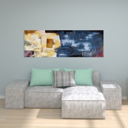 Canvas 20 x 60 - Abstract art with numbers