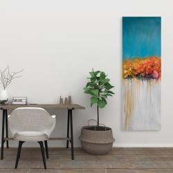 Canvas 20 x 60 - Orange flowers bundle