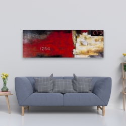Canvas 20 x 60 - Abstract industrial art with numbers