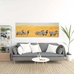 Canvas 20 x 60 - Herd of zebra