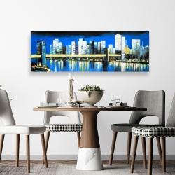 Canvas 20 x 60 - Skyline of lower manhattan