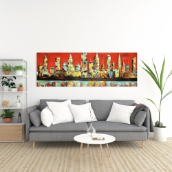 Canvas 20 x 60 - View of red city