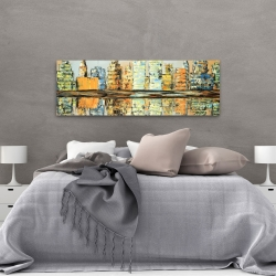 Canvas 20 x 60 - Reflections of a colorful city