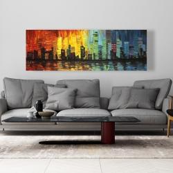 Canvas 20 x 60 - City with color tones