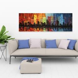 Canvas 20 x 60 - Colorful cityscape