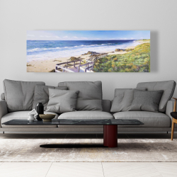 Canvas 20 x 60 - Walk to the beach