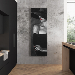 Canvas 20 x 60 - Mysterious woman with a hat