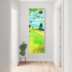 Canvas 20 x 60 - Rice fields of vietnam