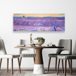 Canvas 20 x 60 - Landscape of a field of lavender