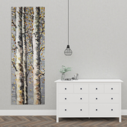 Canvas 20 x 60 - Blossoming birches