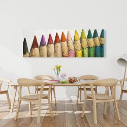 Canvas 20 x 60 - Color pencils standing