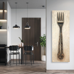 Canvas 20 x 60 - Vintage fork