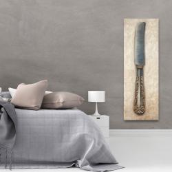 Toile 20 x 60 - Couteau à beurre vintage