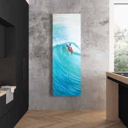 Canvas 20 x 60 - Surfer in the middle of the wave