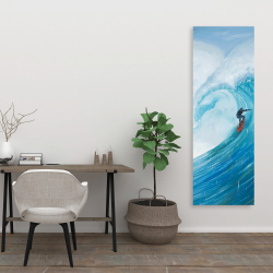 Canvas 20 x 60 - Surfer on a big wave