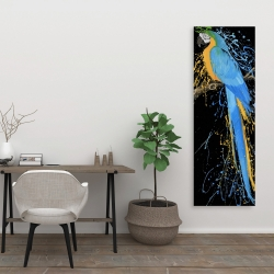 Canvas 20 x 60 - Blue macaw parrot