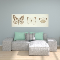 Canvas 20 x 60 - Sepia butterflies