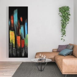 Canvas 20 x 60 - Abstract tall buildings