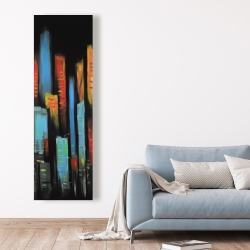 Canvas 20 x 60 - Abstract and colorful tall buildings