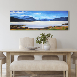Canvas 20 x 60 - Scottish highlands by a beautiful day