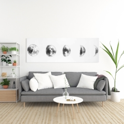 Canvas 20 x 60 - Black and white eclipse