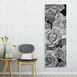Canvas 20 x 60 - Grayscale roses