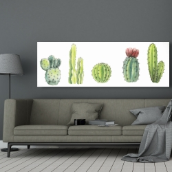 Canvas 20 x 60 - Tiny cactus set