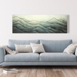 Toile 20 x 60 - Montagnes en tons de gris