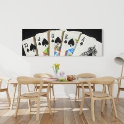 Canvas 20 x 60 - Card game spades royal flush closeup