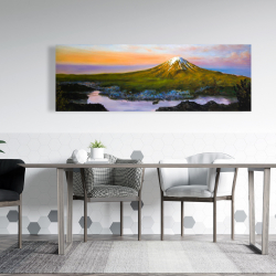 Canvas 20 x 60 - Mount fuji landscape
