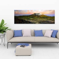 Canvas 20 x 60 - Valley and mountains landscape