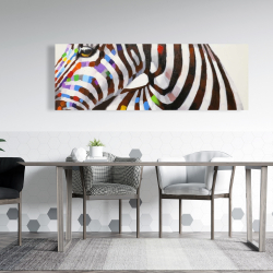 Canvas 20 x 60 - Colorful zebra