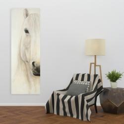Canvas 20 x 60 - Half portrait of a smiling horse
