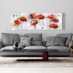 Canvas 20 x 60 - Red flowers
